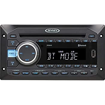 Amazon Com Jensen Jwm40 Dvd Usb Aux Bt Stereo Automotive