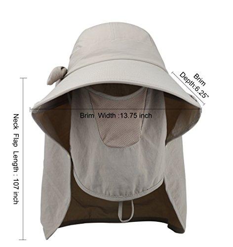 Amazon.com   Epsion Women Summer Neck Flap Sun Visor Hats Wide Brim UV  Protection UPF 50+ Hiking Cap Adjustable   Sports   Outdoors 11b13e643da5