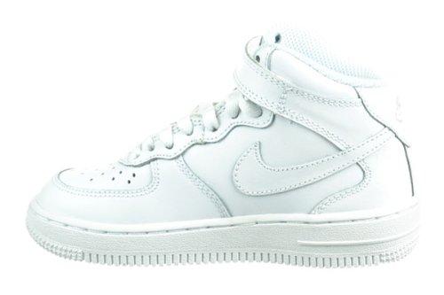 PS Preschool Kids Shoes White White 314196-113-13 Nike Air Force 1 Mid