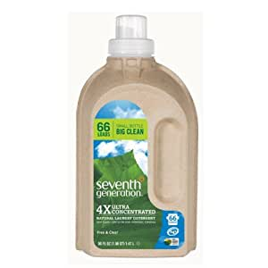 Seventh Generation Laundry Free & Clear High Efficiency Liquids 4X Concentrates 50 fl. oz. (66 Loads)