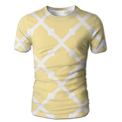 Mnns Wild Beast Male Graphic Fashion Yellow Plaid Short Tshirts S