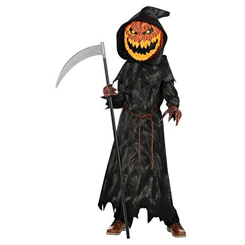 (Boys Jack-o'-Lantern Reaper Costume - Large)