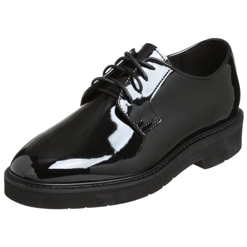 Rocky Duty Men's High Gloss Oxford,Black,9 M