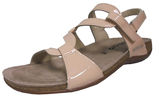 Mephisto Womens Adelie Sandal Nude Patent Size 8