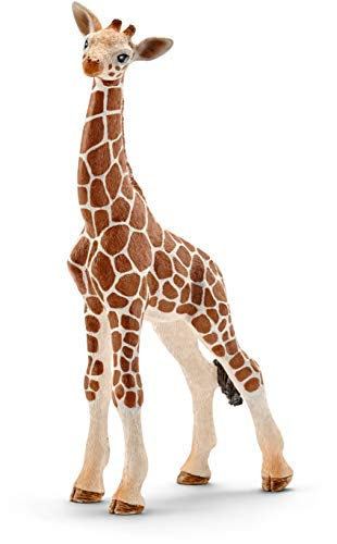 Schleich 14751 Giraffe Calf Toy Figure (Gold Giraffe Figurine)