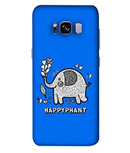 ColorKing Samsung S8 Plus Case Shell Cover - Happyphant 003 Multi Color
