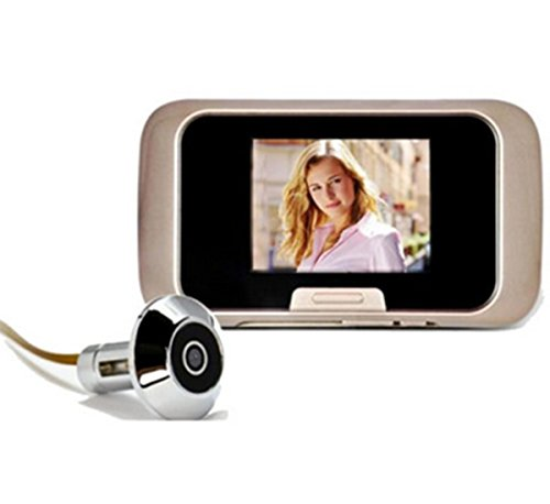 Peep hole video door viewer cam recorder doorbell security for Door viewer camera