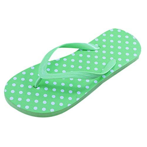Heheja Sandalias para Mujer Verano Unisex Adulto Chanclas Zapatillas de Playa Verde1