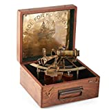 8'' Maritime Antiques Marine Captain Sextant with Wooden Box.