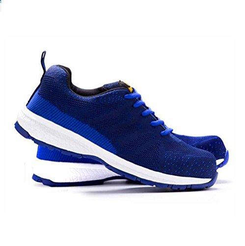 Desodorante de acero para calzado deportivo, Sork zapatos, seguro de trabajo zapatos de seguridad para hombre azul