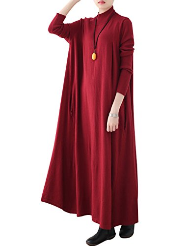 Femmes Youlee Cou Robe Robe Haut Maxi Saut tricot de drw7rUWq