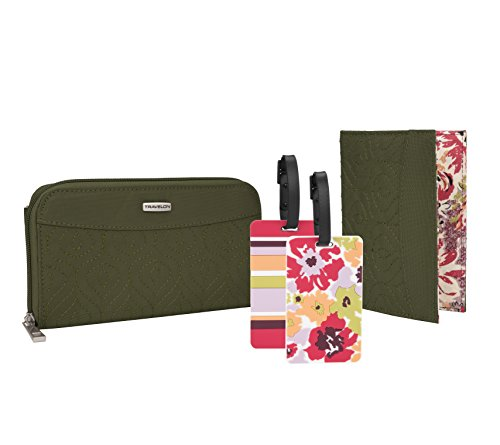 RFID Wallet, Passport Case and Luggage Tag Travel Set