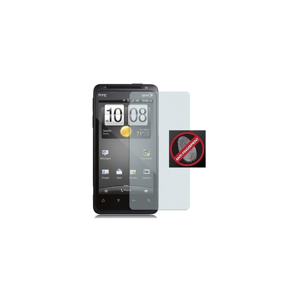 NEW 2 ANTI GLARE/FINGERPRINT LCD SCREEN PROTECTOR FOR SPRINT HTC EVO DESIGN 4G