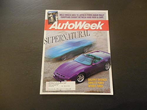 Auto Week Jan 25 1983 Callaway Corvette; Paris Dakar -