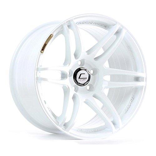 Cosmis Racing MRII 18x8.5 +22mm 5x114.3 White Rim Wheel