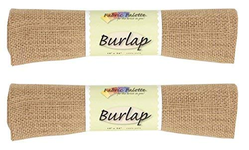 Fabric Editions Burlap, 18 by 24-Inch, Natural (2 Pack)