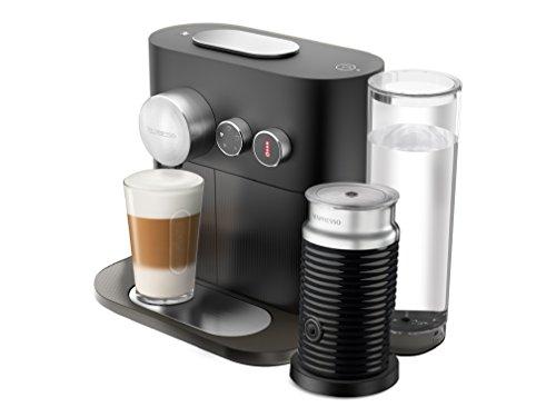Cafetera Nespresso  Expert con Espumador de leche, Color Negra (Incluye obsequio de 14 cápsulas de café y conexión...