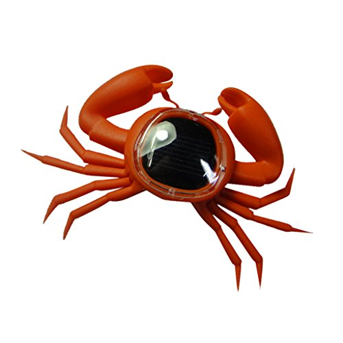 MagiDeal Novelty Solar Crab Sunshine Powered Marine Animals Model Kids Fun Toy