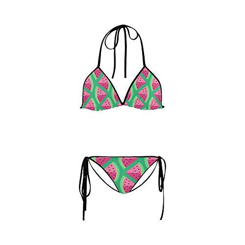 Find Arts Customized Watermelon Bikini 2 Pieces Nylon Swimsuit Swimwear Bathing Suit Beachwear