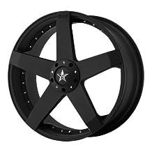 "KMC Wheels KM775 Rockstar Car Matte Black Wheel (20x8""/5x114.3, 120mm, +32mm offset)"