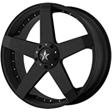 "KMC Wheels KM775 Rockstar Car Matte Black Wheel (18x8""/5x114.3, 120mm, +42mm offset)"
