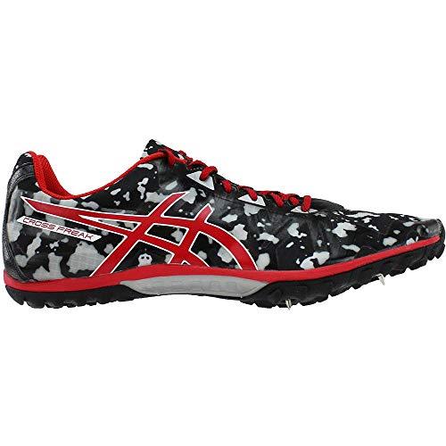 ASICS Men's Cross Freak 2 Cross Country Spike, Black/Fiery Red/Grey, 11.5 M US