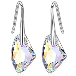 Swarovski Dangle Earrings | 925 Sterling Silver Earrings with Aurore Boreale Crystal from Swarovski Earrings | Swarovski…
