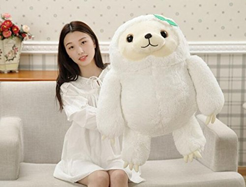 NEW Cute White Sloth Plush Doll Soft Stuffed Animal Toy Birthday Gift 16'' (Face Painting For Skeleton Costume)