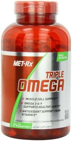 MET-Rx Triple Omega 3-6-9, 240 Count, Omega Fatty Acid Supplement