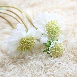 Escolourful ArtificialSilk Flower, Bunch 4 Chrysanthemum Flowers Stems Floral Bouquet Home Wedding Garden Decoration 45