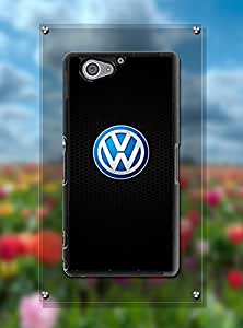 Sony Z2 Compact Funda Case Car Logo Volkswagen, Pretty Design Protector High Impact Compatible With Sony Xperia Z2 Compact (Just Fit For Z2 Compact)