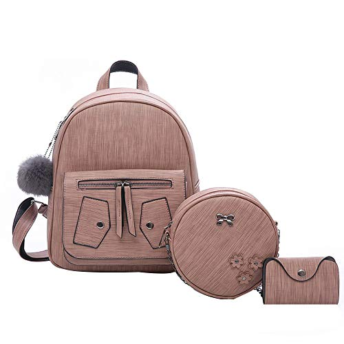 Pink Daypack Pour Dos Sac Dos PU à à School Les Cute Sac Middle Scolaire Backpack Filles Set Candy Bookbag T1UxwHqn