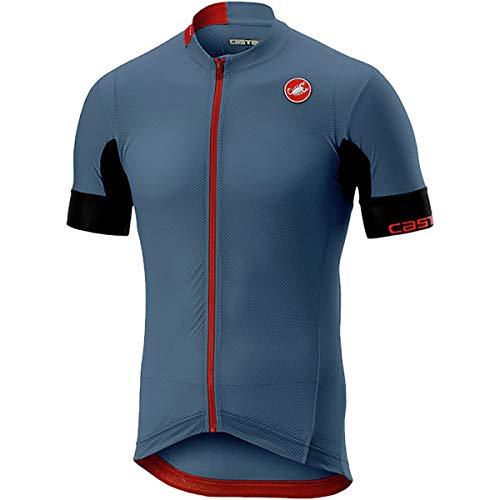 (Castelli Aero Race 4.1 Solid Full-Zip Jersey - Men's Light Steel Blue,)