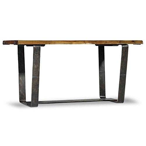 Hooker Furniture Live Edge Wood Top Writing Desk in Medium Wood by Hooker Furniture