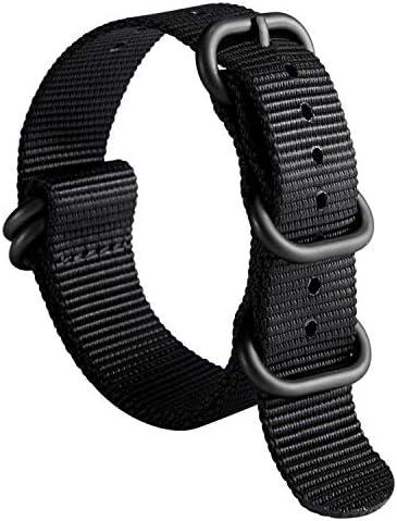 NATO ストラップ ズールー 腕時計バンド 時計 ベルト G10 プレミアム バリスティック ナイロン 交換用 男性用 時計 ストラップ 18mm 20mm 22mm 24mm ステンレスバックル 取り替え工具付 1.5mm 厚