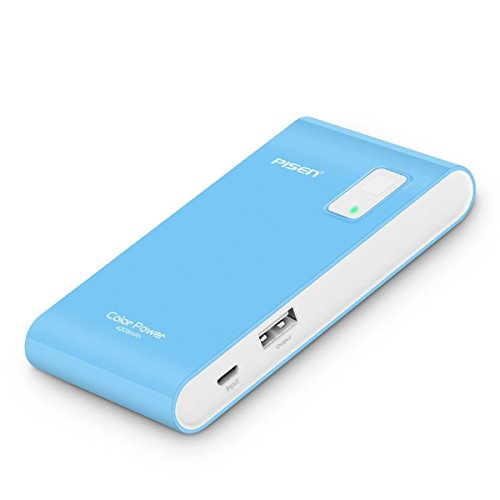 PISEN Color Power Bank 4200mAh,TS-D146 External Portable Charger with LED Flashlight for iPhone 7/6/6s, HTC, Samsung Galaxy,Sony Erisson, LG,BlackBerry and More -Blue