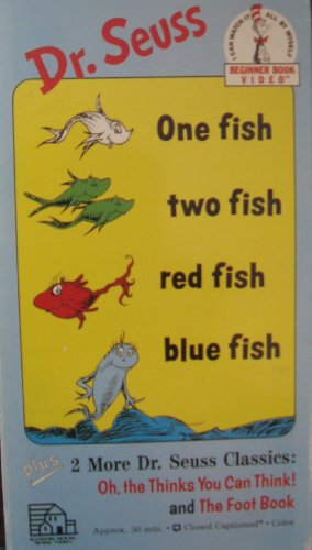 One Fish Two Fish Red Fish Blue Fish/Oh, the Thinks You Can Think/Foot Book [VHS] ()