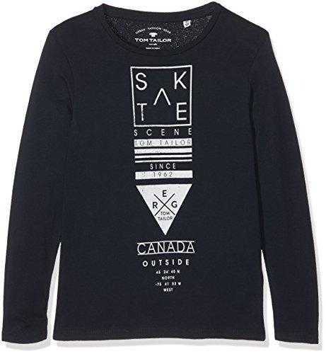 TOM TAILOR Kids Jungen T-Shirt Skate Scene Longsleeve, Blau (Dark Blue 6012), 152