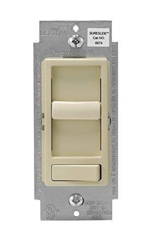 Leviton 6674-P0I 6 Pack Decora SureSlide Slide CFL LED dimmer, Ivory