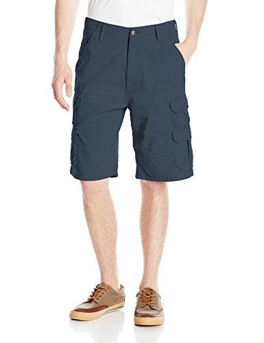 Wrangler Authentics Men's Premium Relaxed Fit Twill Cargo Short, Midnight, 42