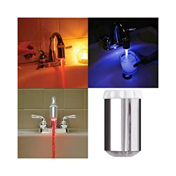 Temperature Controlled Faucet Light - Touch On Kitchen Sink ...