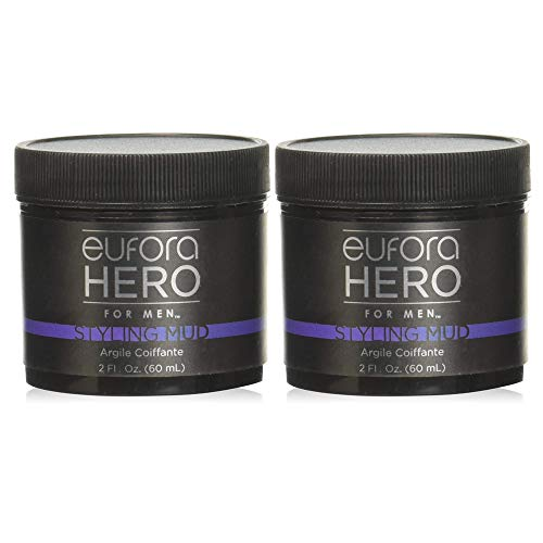 Eufora Hero For Men Styling Mud 2 Oz - Pack of 2 With Beautify Comb