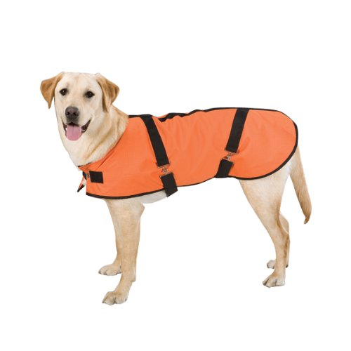 Casual Canine Polyester Ripstop Blanket Dog Coat, Medium, 16-Inch, Orange, My Pet Supplies