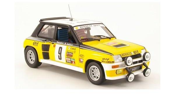 Renault 5 Turbo, No.9, once, J.Ragnotti/Andrié, Rally Monte Carlo , 1981, Modelo de Auto, modello completo, UH 1:18: Amazon.es: Juguetes y juegos