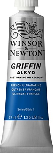 Griffin Alkyd Fast Drying Oil, 37ml tube, French Ultramarine