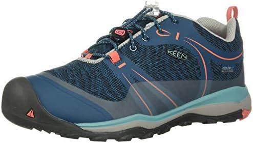 KEEN Unisex Terradora Low WP Hiking Shoe Aqua SEA//Coral 10 M US Little Kid