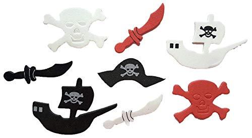86 Piece Foam Pirate Stickers ()