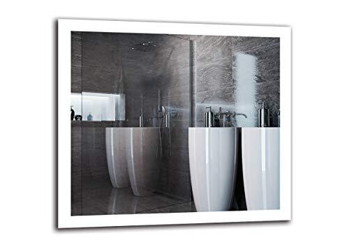 Espejo LED Premium - Dimensiones del Espejo 100x90 cm - Espejo de bano con iluminacion LED - Espejo de Pared - Espejo de luz - Espejo con iluminacion - ARTTOR M1ZP-50-100x90 - Blanco frio 6500K