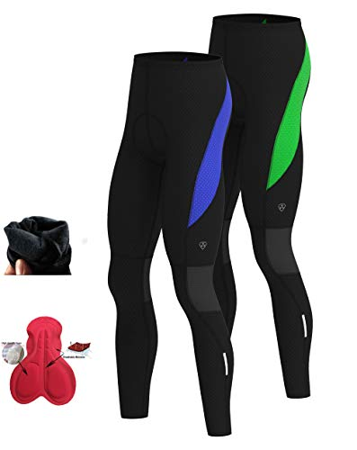 Hera International Mens Cycling Tights Winter Thermal Cold Wear Gel Padded Legging Cycling Trouser