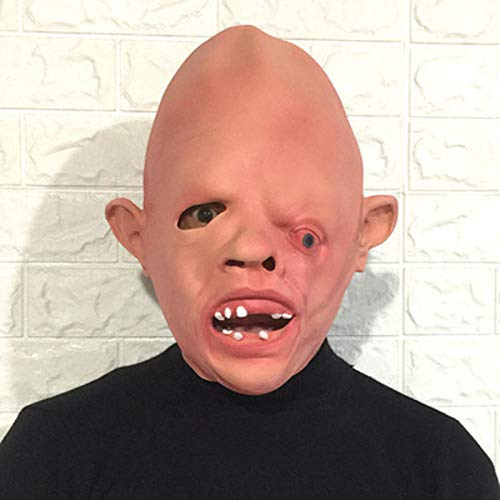 Makeup Ball Death Latex Headdress Horror Grimace Scary Skeleton Mask Hooded Halloween Show Props Size 5